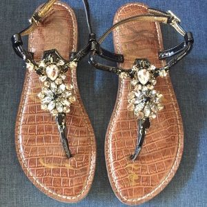 Sam Edelman   jeweled rhinestone sandals